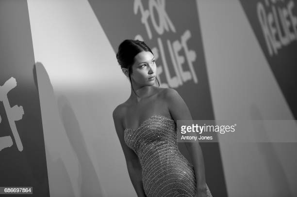 Model Bella Hadid attends the Fashion for Relief event during the 70th annual Cannes Film Festival at Aeroport Cannes Mandelieu on May 21 2017 in...