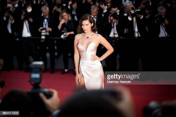 Model Bella Hadid during the 70th annual Cannes Film Festival on May 17 2017 in Cannes France