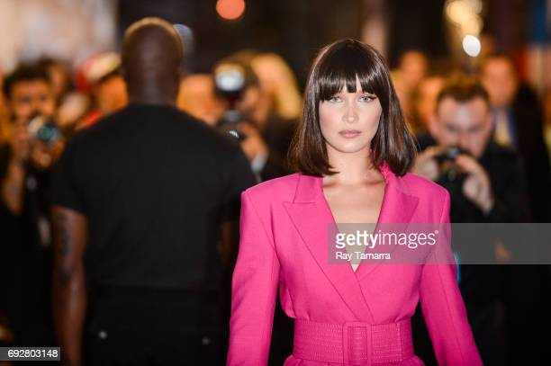 Model Bella Hadid enters the CFDA Fashion Awards at Hammerstein Ballroom on June 5 2017 in New York City