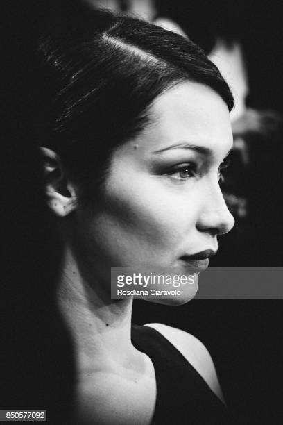 Model Bella Hadid is seen backstage ahead of the Max Mara show during Milan Fashion Week Spring/Summer 2018on September 21 2017 in Milan Italy