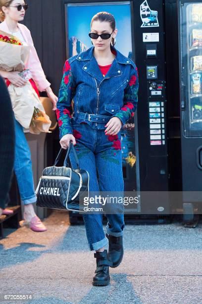 Model Bella Hadid is seen in Midtown on April 23 2017 in New York City