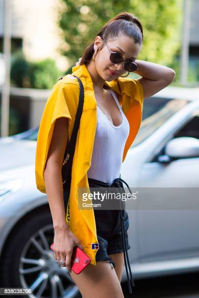 Model Bella Hadid is seen in Midtown on August 23 2017 in New York City