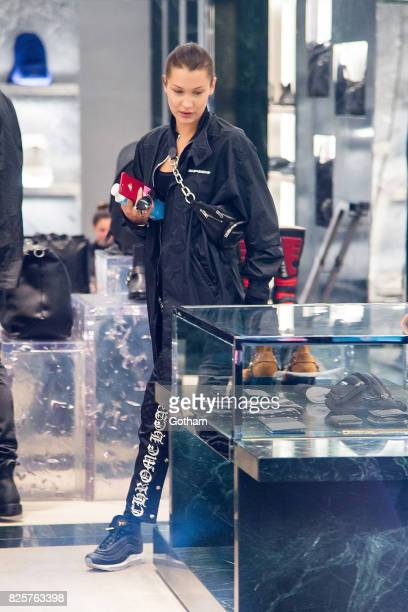 Model Bella Hadid is seen in SoHo on August 2 2017 in New York City