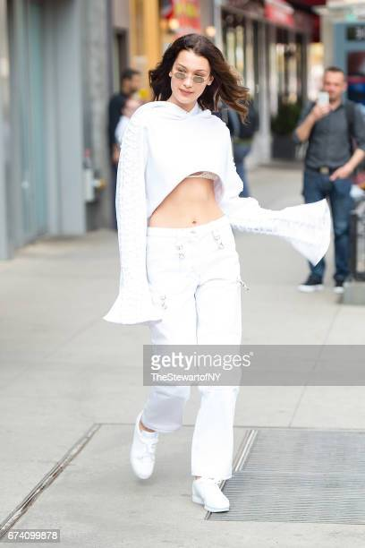 Model Bella Hadid is seen in the East Village on April 27 2017 in New York City