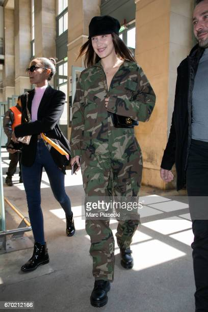 Model Bella Hadid is seen on April 19 2017 in Paris France