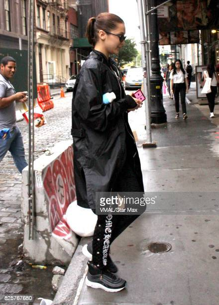 Model Bella Hadid is seen on August 2 2017 in New York City