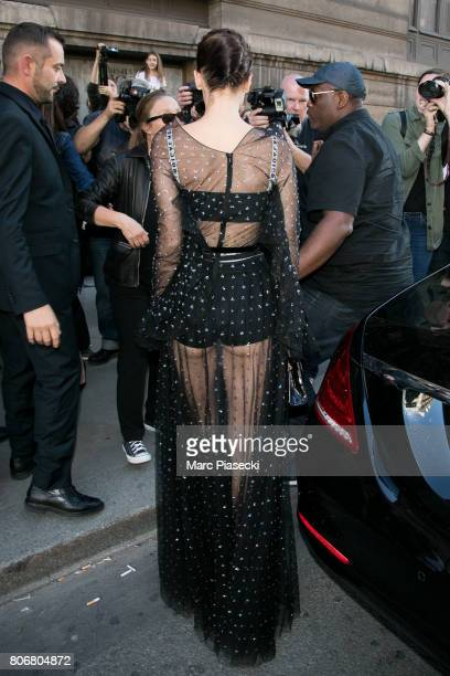 Model Bella Hadid is seen on July 3 2017 in Paris France
