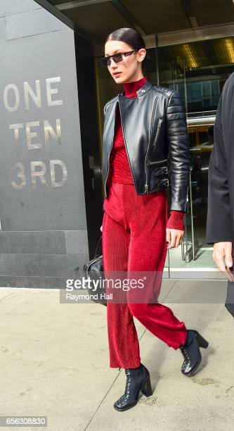 Model Bella Hadid is seen on March 21 2017 in New York City