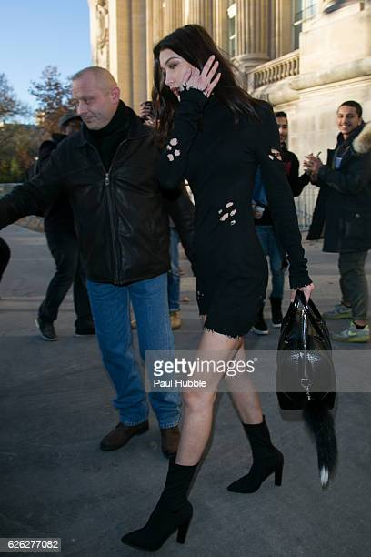 Model Bella Hadid is seen on November 28 2016 in Paris France