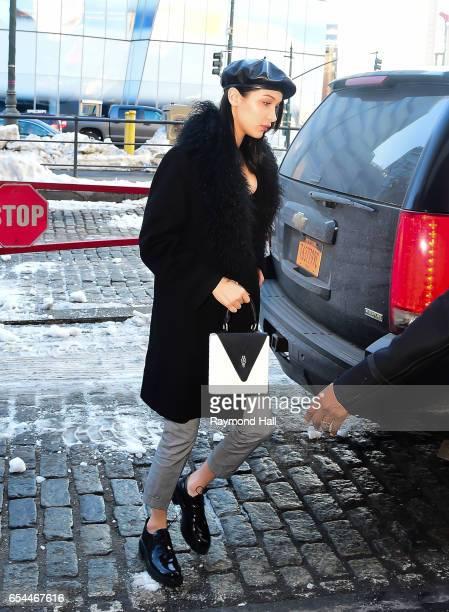 Model Bella Hadid is seen walking in Soho on March 17 2017 in New York City