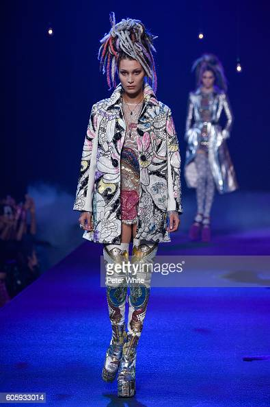 Model Bella Hadid walks the runway at the Marc Jacobs fashion show during New York Fashion Week at Hammerstein Ballroom on September 15 2016 in New...