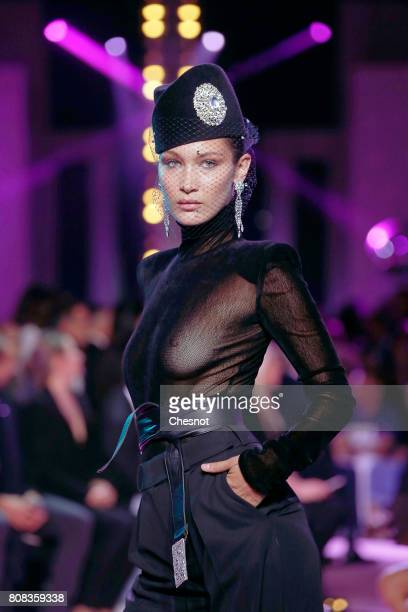 Model Bella Hadid walks the runway during the Alexander Vauthier Haute Couture Fall/Winter 20172018 show as part of Haute Couture Paris Fashion Week...