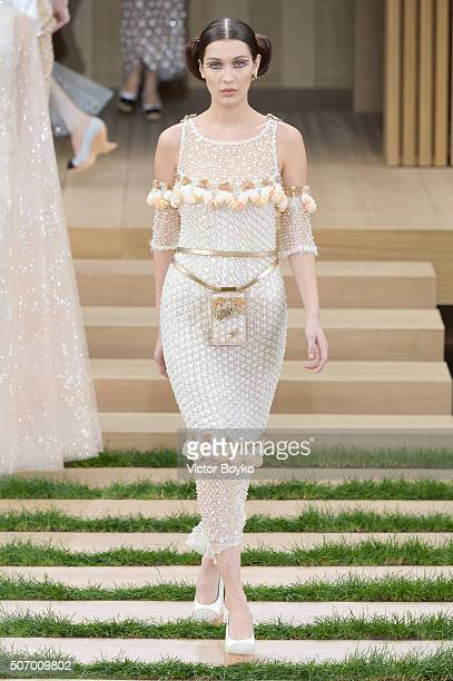 Model Bella Hadid walks the runway during the Chanel Haute Couture Spring Summer 2016 show as part of Paris Fashion Week on January 26 2016 in Paris...