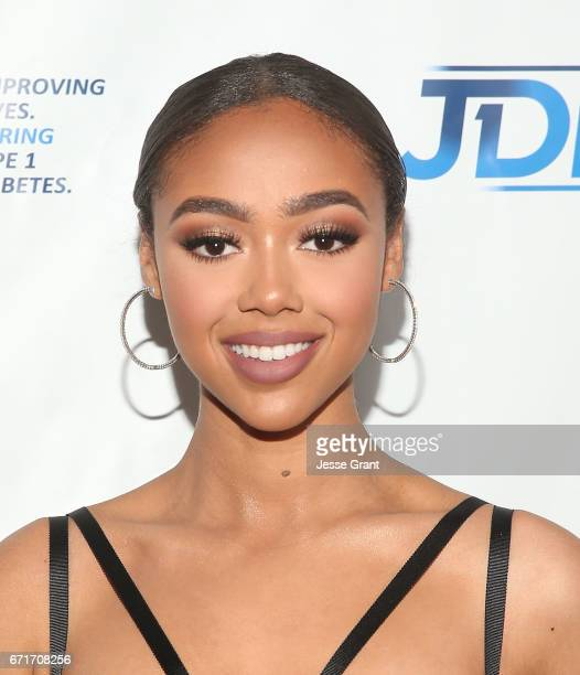 Model Bella Harris attends the JDRF LA Chapter's Imagine Gala held at The Beverly Hilton Hotel on April 22 2017 in Beverly Hills California