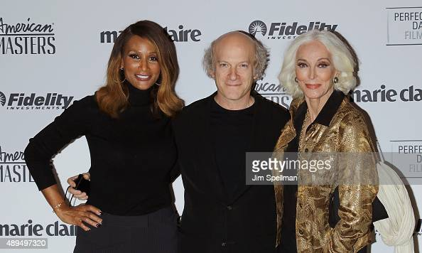 Model Beverly Johnson photographer/filmmaker Timothy GreenfieldSanders and Carmen Dell'Orefice attend the 'American Masters The Women's List'...