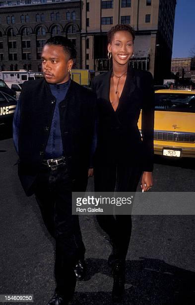 Model Beverly Peele and husband Jeffrey Alexander attend Kids for Kids Benefit for Pediatric AIDS Foundation on April 18 1993 at Inustria Superstudio...