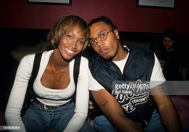 Model Beverly Peele and husband Jeffrey Alexander attend the party for Jamie Foxx Theater Show on May 15 1994 at the Beacon Theater in New York City