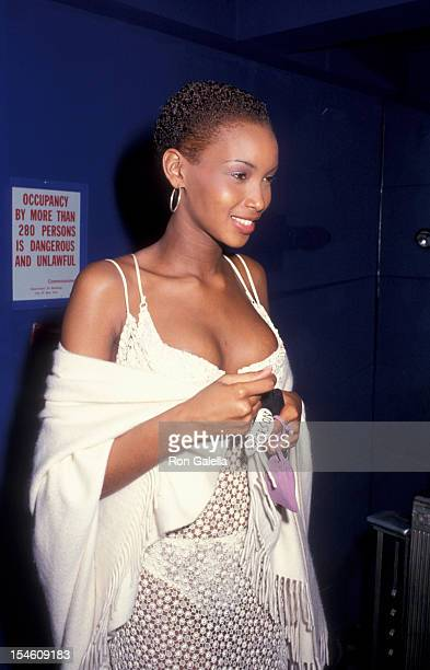 Model Beverly Peele attend A Night of Fun and Sun Absolut Vodka Party on April 3 1993 at the Supper Club in New York City