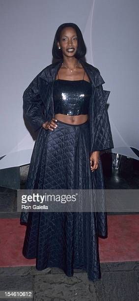 Model Beverly Peele attends Brite Night Whitney Fundraising Gala on March 9 1999 at the Whitney Museum in New York City
