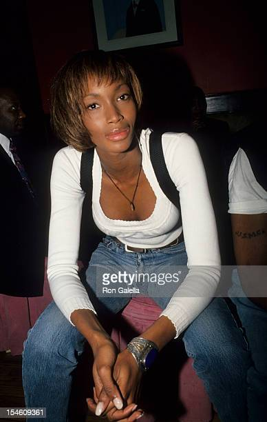 Model Beverly Peele attends the party for Jamie Foxx Theater Show on May 15 1994 at the Beacon Theater in New York City