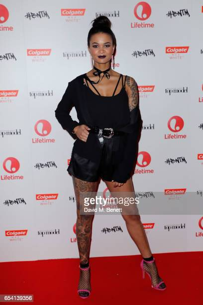 Model Bianca attends Lifetime's launch of Britain's Next Top Model airing tonight at 9pm on Lifetime on March 16 2017 in London England
