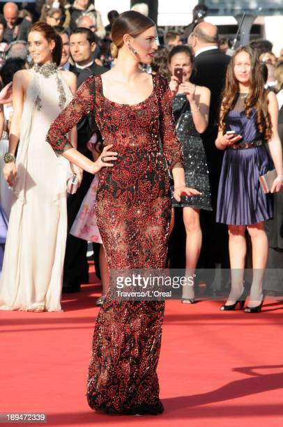 Model Bianca Balti arrives at 'Venus In Fur' Premiere during the 66th Annual Cannes Film Festival at Grand Theatre Lumiere on May 25 2013 in Cannes...