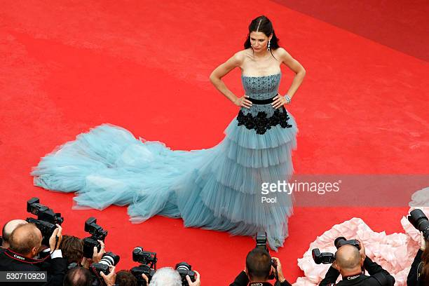 Model Bianca Balti attends the 'Cafe Society' premiere and the Opening Night Gala during the 69th annual Cannes Film Festival at the Palais des...