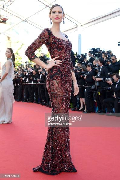 Model Bianca Balti attends the 'La Venus A La Fourrure' premiere during The 66th Annual Cannes Film Festival at Theatre Lumiere on May 25 2013 in...