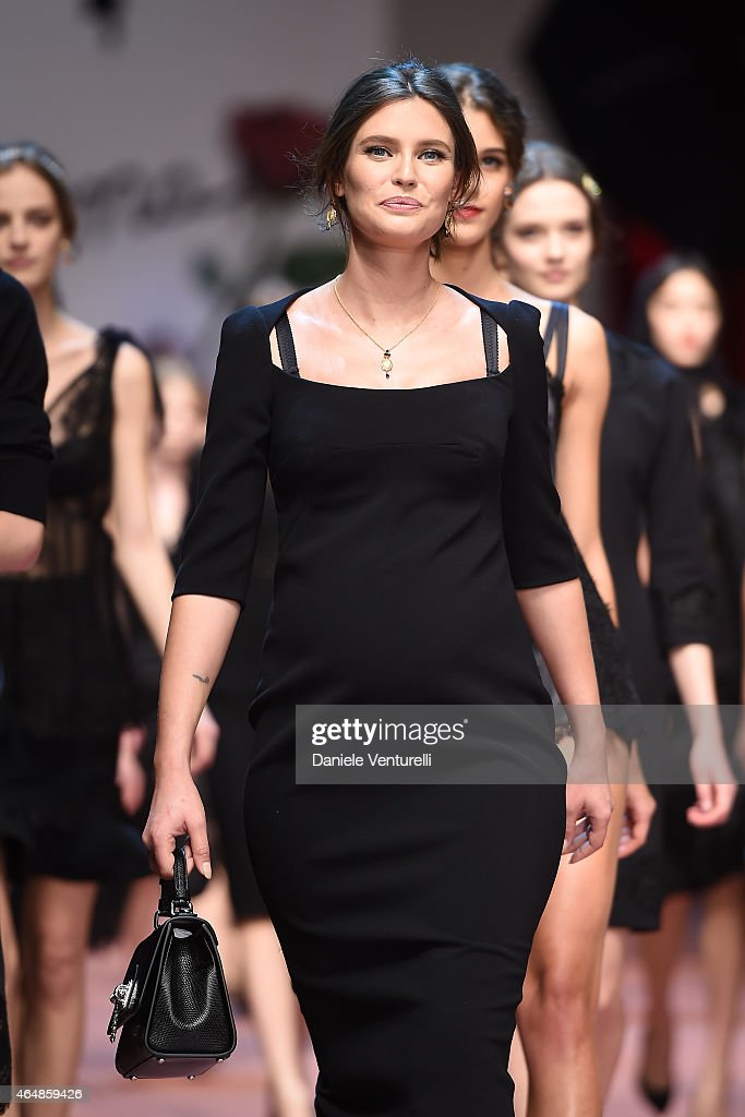 Model <a gi-track='captionPersonalityLinkClicked' href=/galleries/search?phrase=Bianca+Balti&family=editorial&specificpeople=2163098 ng-click='$event.stopPropagation()'>Bianca Balti</a> walks the runway at the Dolce & Gabbana show during the Milan Fashion Week Autumn/Winter 2015 on March 1, 2015 in Milan, Italy.
