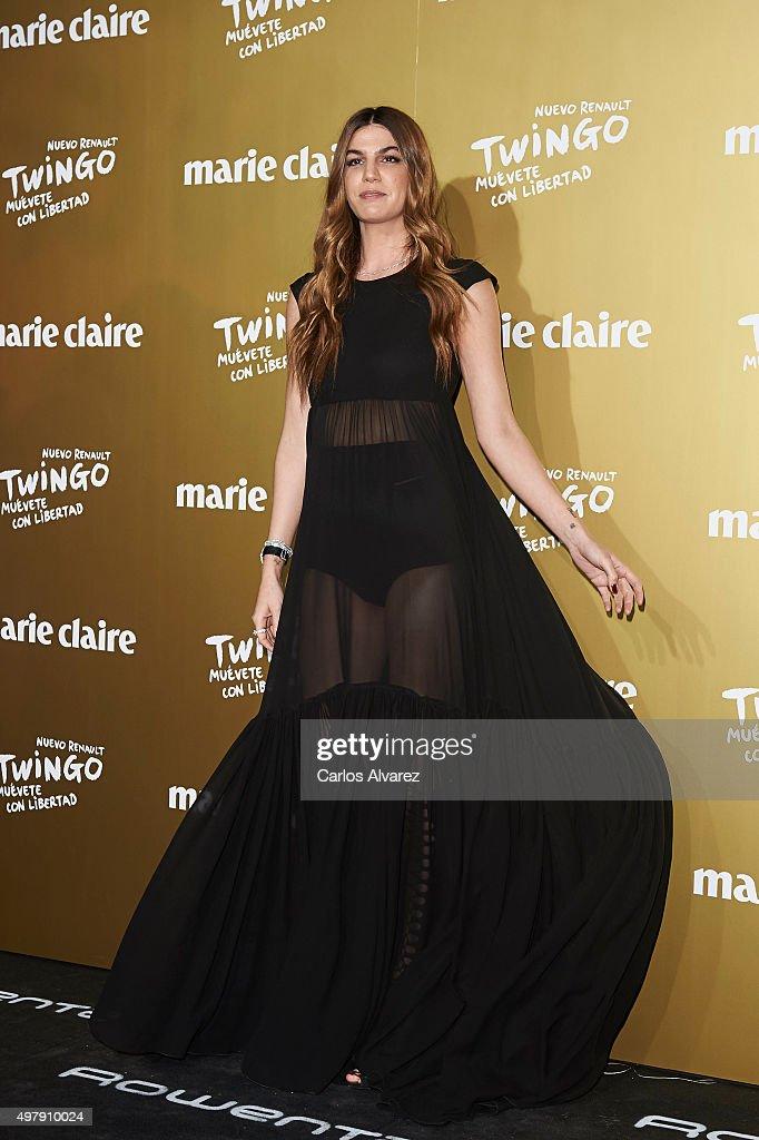 Model Bianca Brandolini attends the Marie Claire Prix de la Moda 2015 at the Callao cinema on November 19 2015 in Madrid Spain