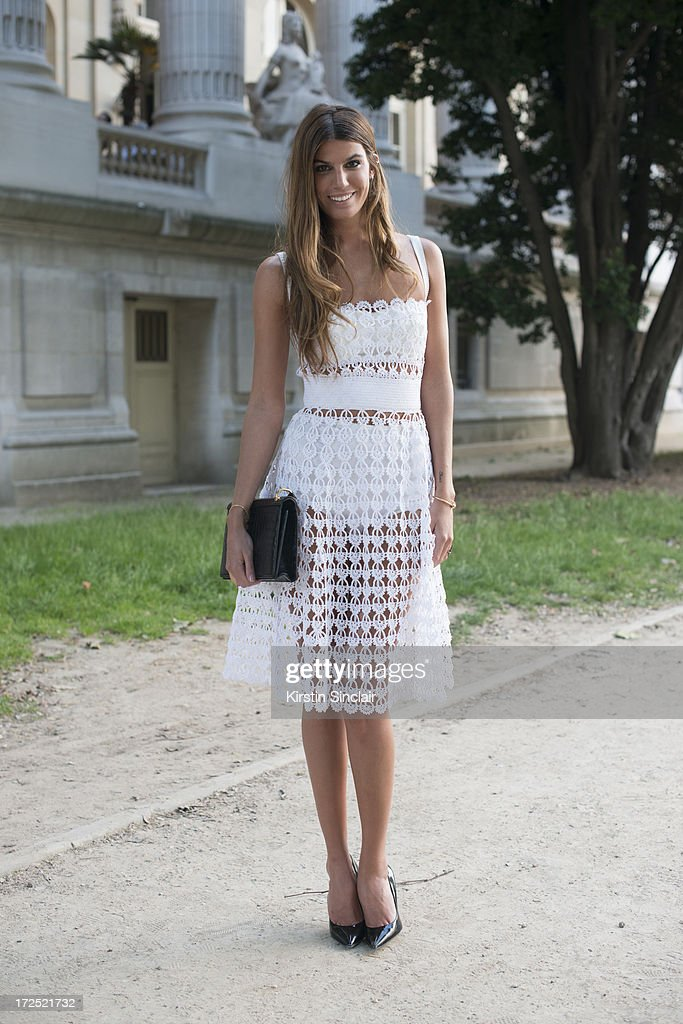 Model Bianca Brandolini D'Adda on day 1 of Paris Collections: Womens Haute Couture on July 01, 2013 in Paris, France.