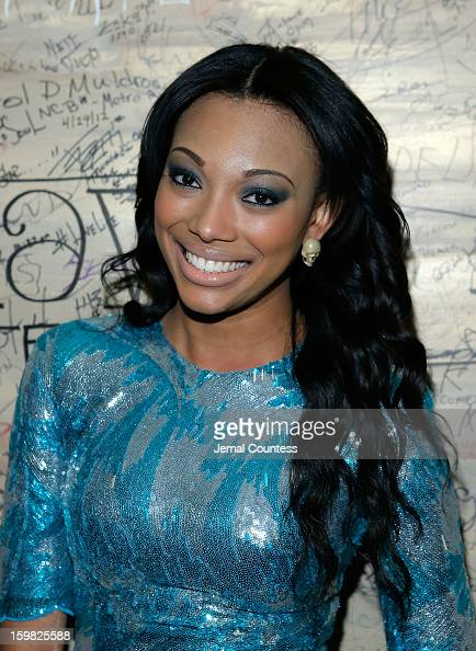 Model Bianca Golden attends the 2013 HOPE Inaugural Youth Ball at the Howard Theatre on January 20 2013 in Washington DC