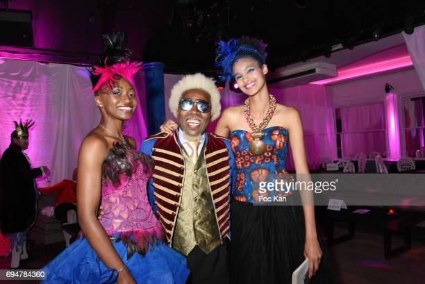 model Bibi Sonia Yanke designer Anggy Haif and model Ava guedonÊattend 'Bal des Princesses 2017' at Chalet du Lac on June 10 2017 in Paris France