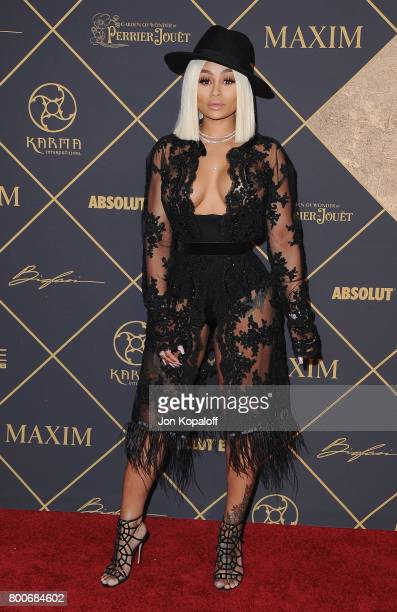 Model Blac Chyna arrives at The 2017 MAXIM Hot 100 Party at Hollywood Palladium on June 24 2017 in Los Angeles California