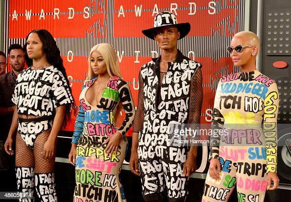 Model Blac Chyna Model Amber Rose and guests attend the 2015 MTV Video Music Awards at Microsoft Theater on August 30 2015 in Los Angeles California