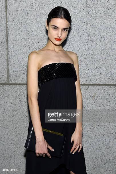 Model Blanca Padilla attends the 2015 amfAR New York Gala at Cipriani Wall Street on February 11 2015 in New York City