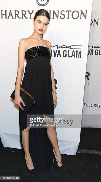 Model Blanca Padilla attends the 2015 amfAR New York Gala at Cipriani Wall Street on February 11 2015 in New York City