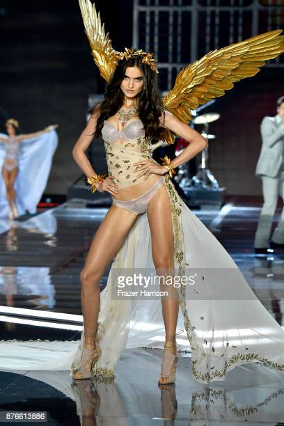 Model Blanca Padilla walks the runway during the 2017 Victoria's Secret Fashion Show In Shanghai at MercedesBenz Arena on November 20 2017 in...