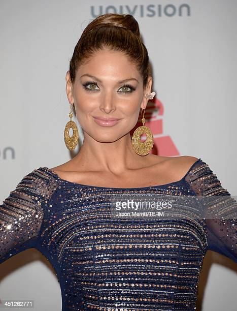 Model Blanca Soto poses in the press room at the 14th Annual Latin GRAMMY Awards held at the Mandalay Bay Events Center on November 21 2013 in Las...