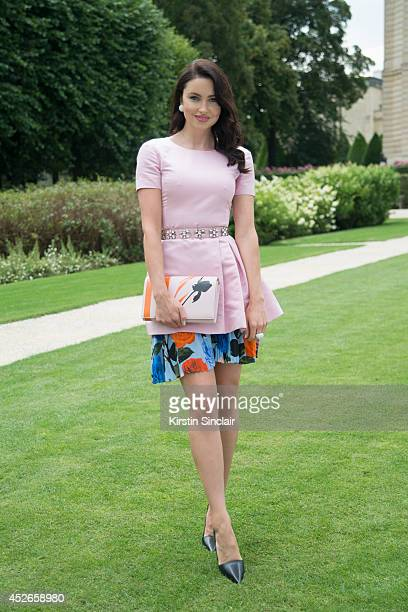 Model Blogger and actress Emma Miller wearing Damiani Jewellery and everything else Dior day 2 of Paris Haute Couture Fashion Week Autumn/Winter 2014...
