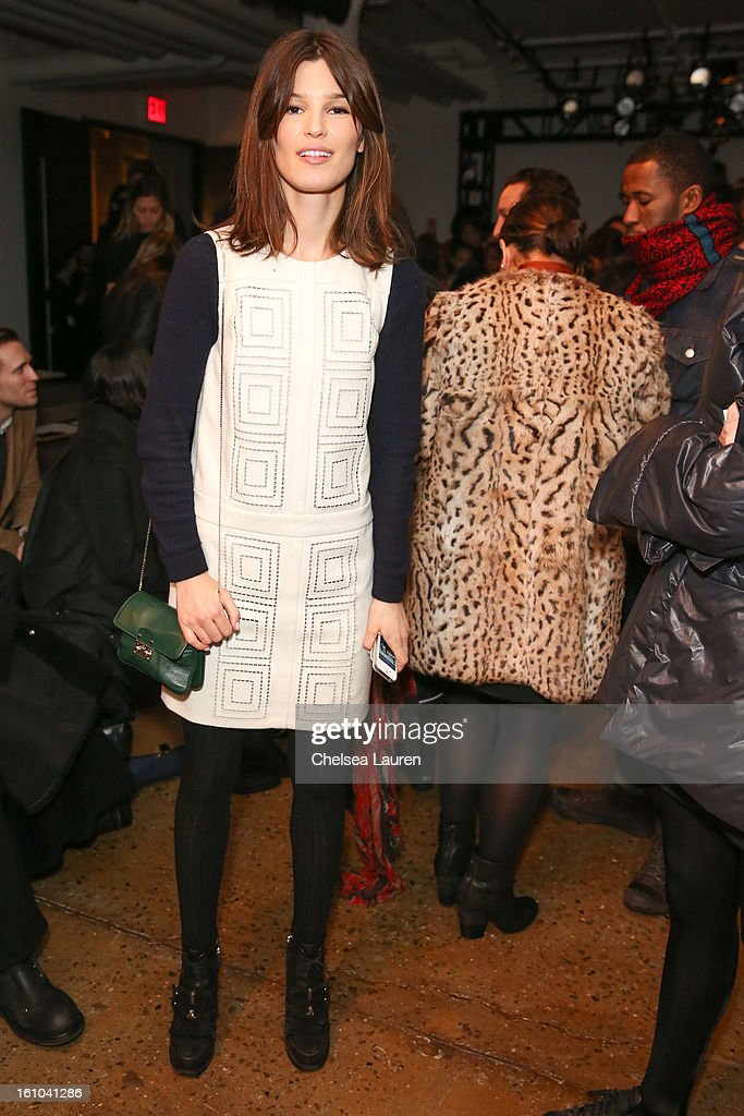 Model / blogger Hanneli Mustaparta attends the Suno fall 2013 fashion show during MADE Fashion Week at Milk Studios on February 8, 2013 in New York City.