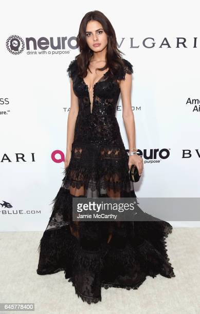 Model Bo Krsmanovic attends the 25th Annual Elton John AIDS Foundation's Academy Awards Viewing Party at The City of West Hollywood Park on February...