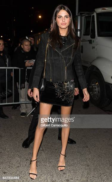 Model Bo Krsmanovic is seen arriving at Sports Illustrated Swimsuit 2017 Launch Event at Center415 Event Space on February 16 2017 in New York City