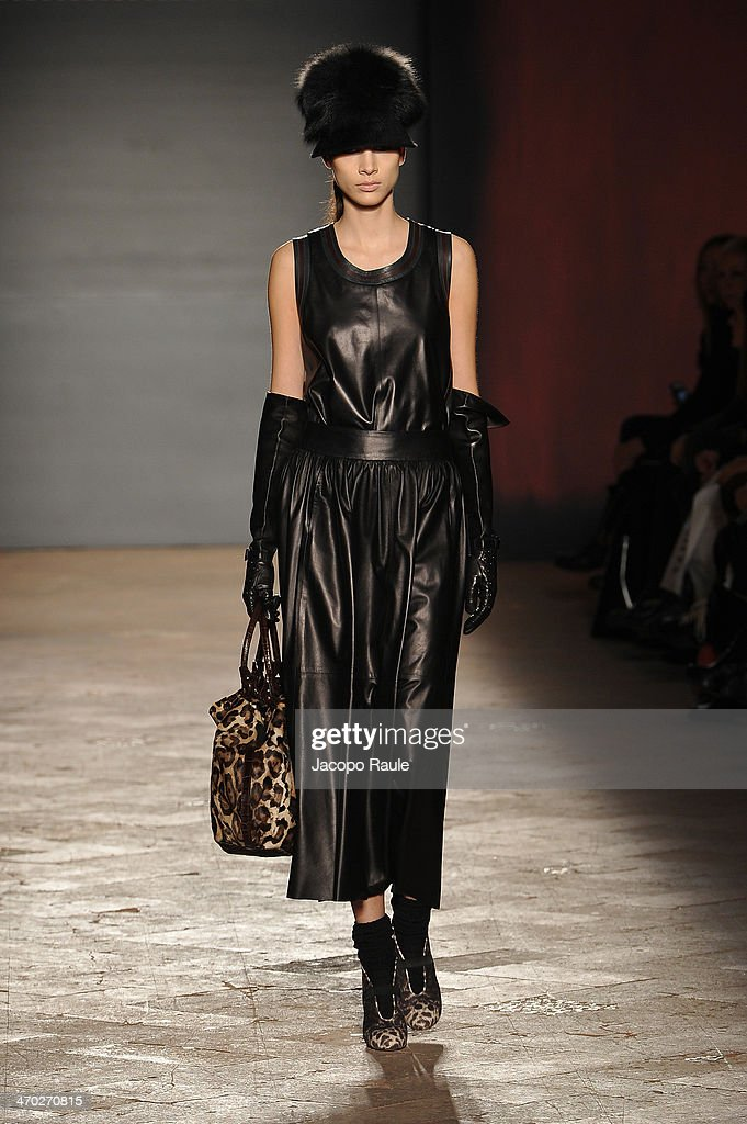 Model Brenda Kranz walks the runway at the Simonetta Ravizza show during Milan Fashion Week Womenswear Autumn/Winter 2014 on February 19, 2014 in Milan, Italy.