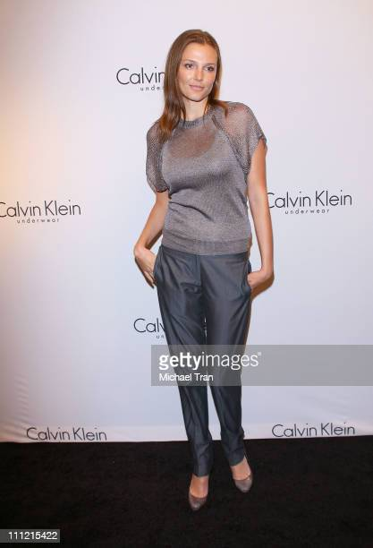 Model Bridget Hall arrives at The 25th Anniversary Party of Calvin Klein Underwear at Calvin Klein on September 5 2007 in New York City