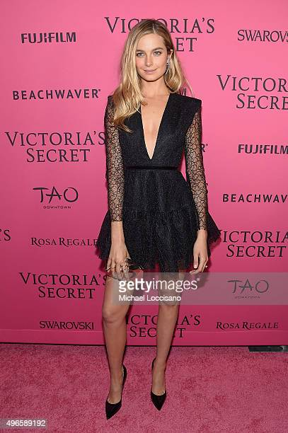 Model Bridget Malcolm attends the 2015 Victoria's Secret Fashion After Party at TAO Downtown on November 10 2015 in New York City