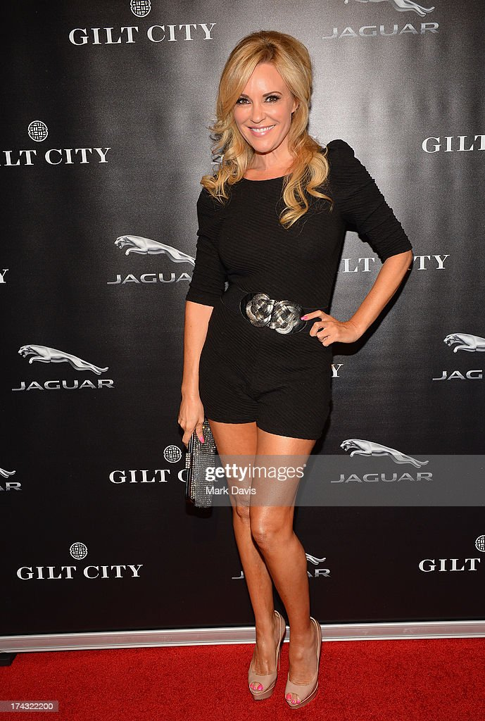 Model <a gi-track='captionPersonalityLinkClicked' href=/galleries/search?phrase=Bridget+Marquardt&family=editorial&specificpeople=539138 ng-click='$event.stopPropagation()'>Bridget Marquardt</a> poses at the 'Jaguar and Gilt celebrate #MyTurnToJag' held at Siren Studios on July 23, 2013 in Hollywood, California.