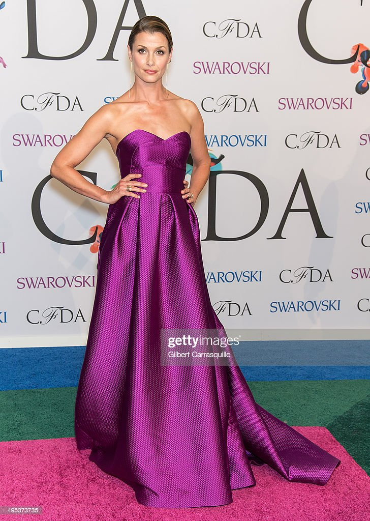 Model Bridget Moynahan attends the 2014 CFDA fashion awards at Alice Tully Hall, Lincoln Center on June 2, 2014 in New York City.
