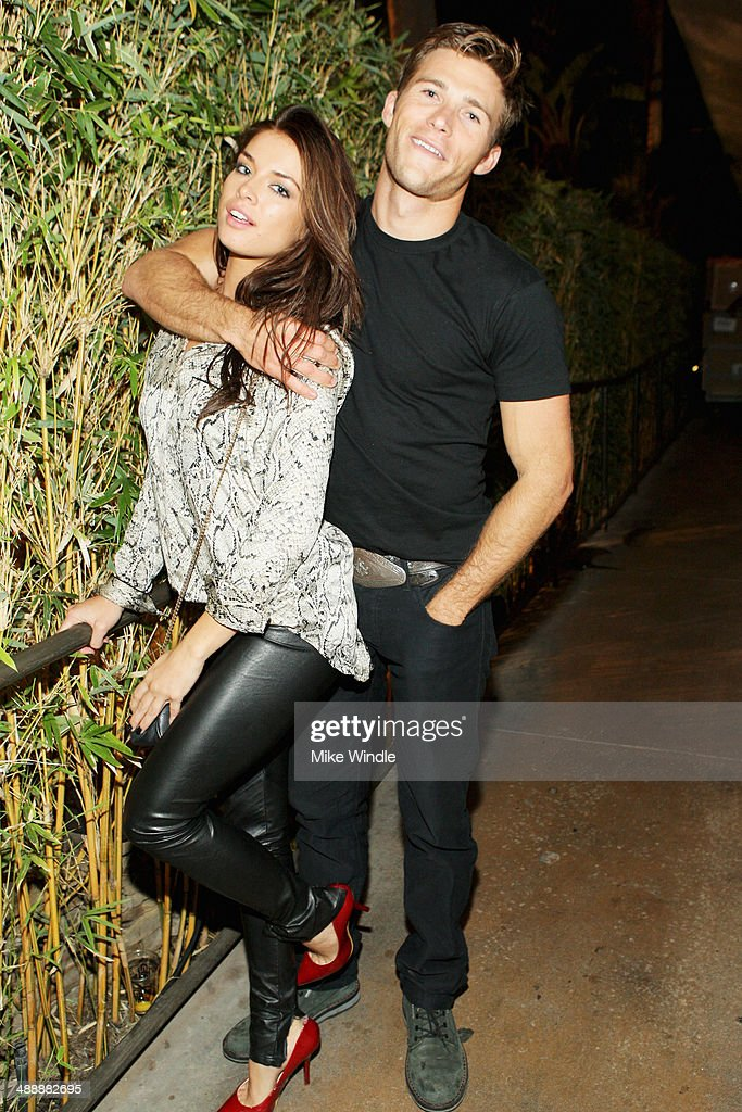 Model Brittany Brousseau and actor Scott Eastwood attend the Nylon BCBGeneration May Young Hollywood Party at Hollywood Roosevelt Hotel on May 8 2014...