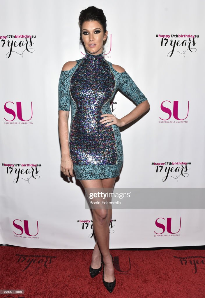 Model Brittany Brower attends SU Magazine's 17th Anniversary Celebration at Avalon on August 12, 2017 in Hollywood, California.